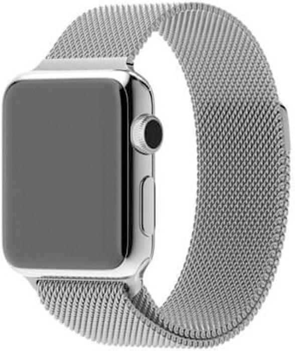 Ремешок для смарт-часов Eva Milanese Loop Stainless Steel для Apple Watch 38 мм, серебристый аксессуар ремешок gurdini milanese loop для apple watch 38mm space black 904824