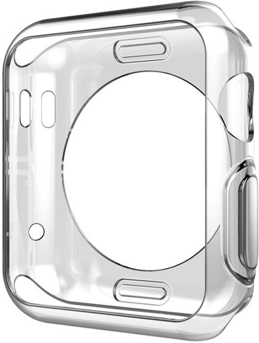 Чехол силиконовый Eva для Apple Watch 38mm, цвет: прозрачный аксессуар чехол eva silicone для apple watch 38mm transparent avc005t