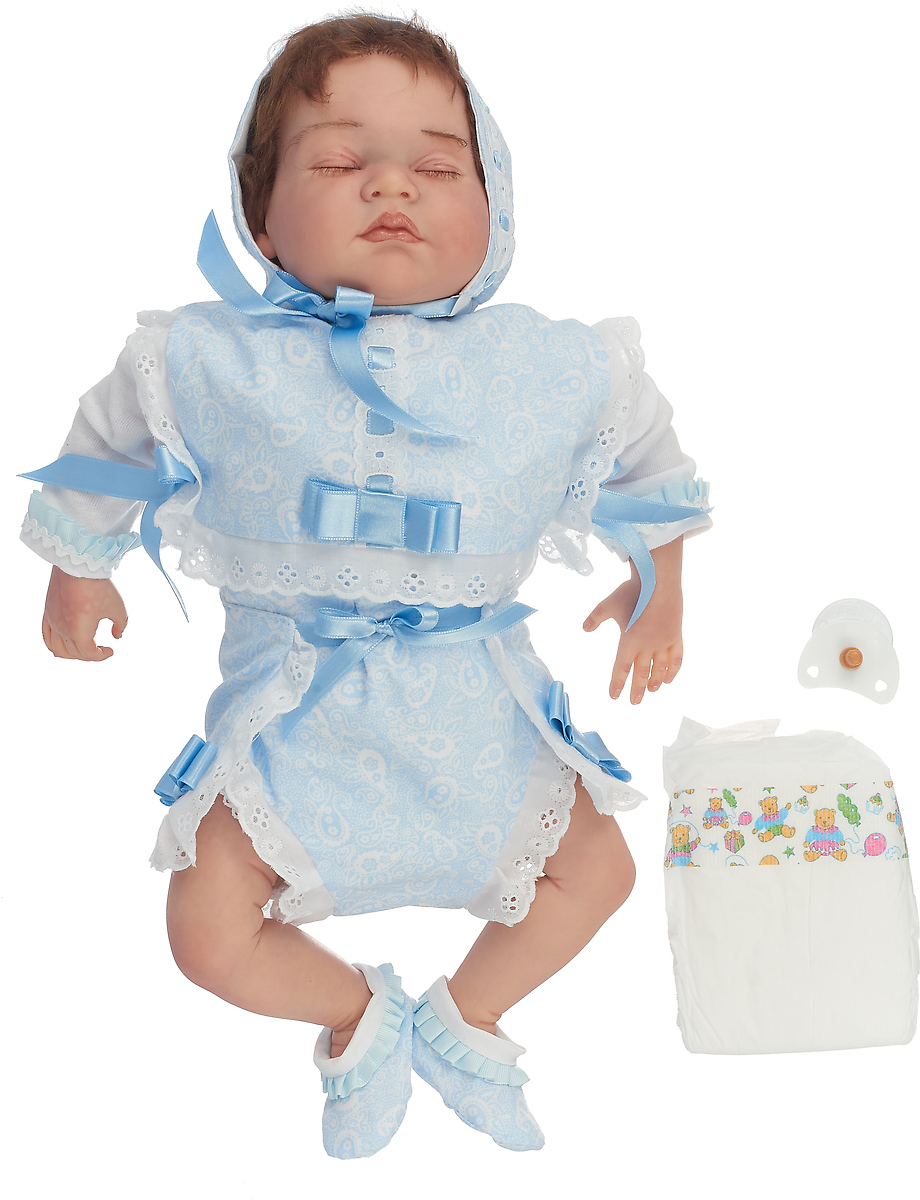 Arias Пупс ReBorns цвет одежды голубой Т11139 кукла berbesa виниловая 42см пупс новорожденный 5110