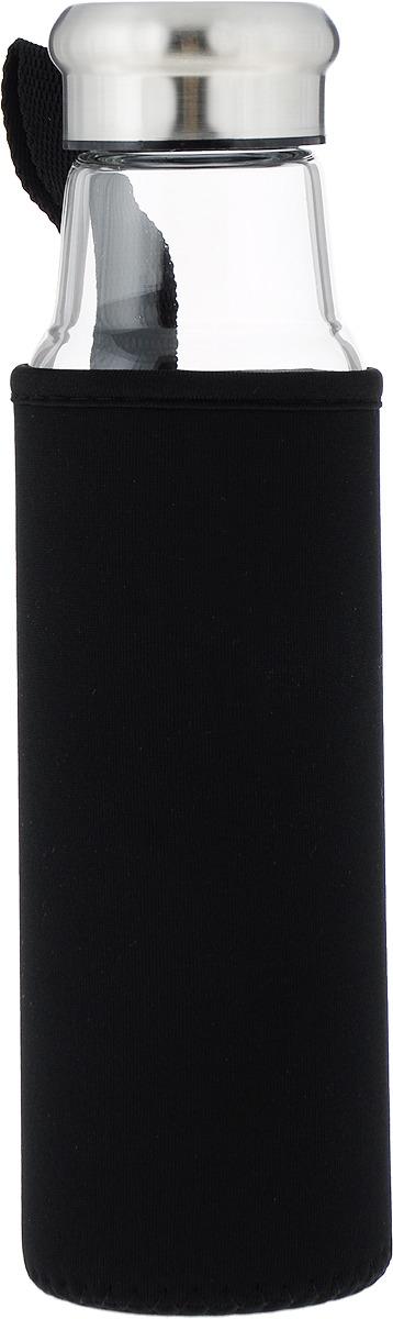 цены Бутылка Iris, в чехле, цвет: черный, 550 мл
