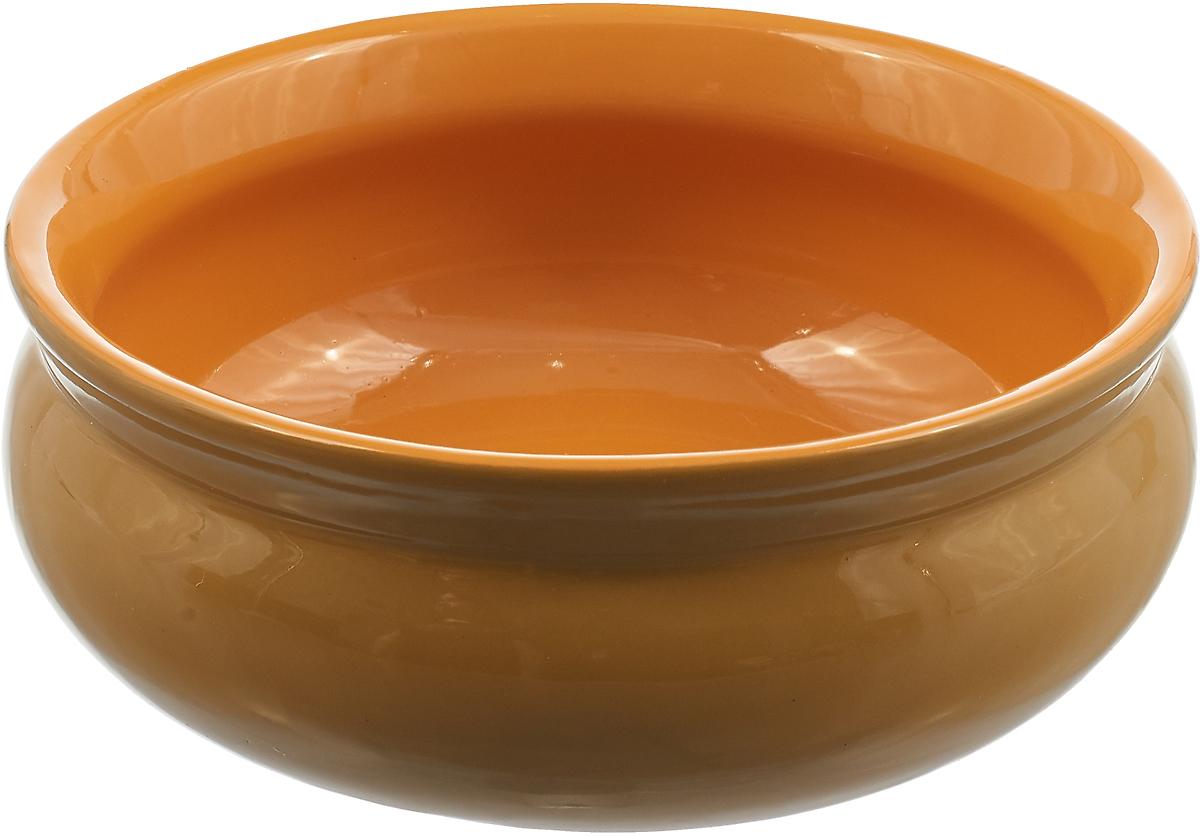 Тарелка глубокая Борисовская керамика Скифская, цвет: горчичный, желтый, 500 мл тарелка борисовская керамика скифская 300 мл цвет темно желтый сиреневый