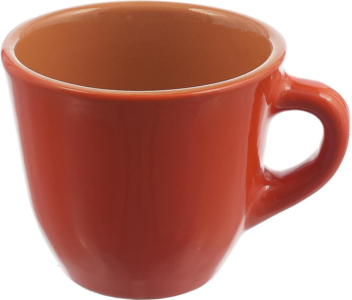 Чашка чайная Борисовская керамика Радуга, цвет: оранжевый, желтый, 300 мл чашка чайная борисовская керамика пион цвет оранжевый 300 мл