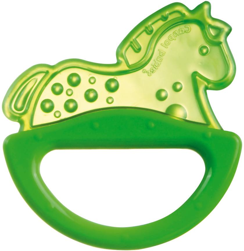 Canpol Babies Погремушка-прорезыватель Лошадка цвет зеленый оранжевый canpol babies погремушка прорезыватель ключи с символами цвет голубой зеленый