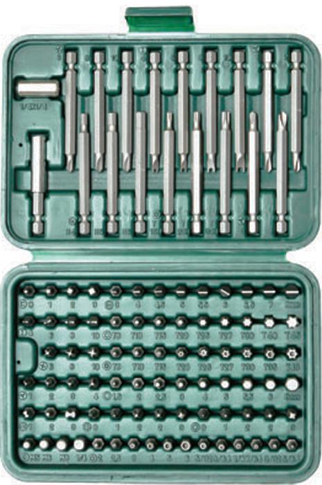 Набор бит Skrab, 99 предметов41605Комплектация: адаптер 1/4-1/4; удлинитель-битодержатель 60 мм ; биты 25 мм 1/4: SL: 3.0, 4.0, 4.5, 5.0, 5.5, 6.0, 6.5, 7.0, 8.0 мм; РН:1, 2, 2, 3; РZ: 1, 2, 2, 3; HEX: 1.5, 2.0, 2.5, 3.0, 4.0, 5.0, 5.5, 6.0, 8.0 мм; Tamper HEX: 2.0, 2.5, 3.0, 4.0, 5.0, 6.0 мм, 5/32, 9/64, 1/8, 7/64, 3/32, 5/64; ТORX: Т8, Т10, Т15, Т20, Т25, Т27, Т30, Т40,Т45, Tamper ТORX: Т8Н, Т10Н, Т15Н, Т20Н, Т25Н, Т27Н, Т30Н, Т40Н; SPLINE:М5, М6,М8; ROBERTSON: 0, 1, 2, 3; TORQ:6, 8, 10; SPANNER: 4, 6, 8, 10; TRI-WING:1, 2, 3, 4; CLUTH: 1, 2, 3; Биты 75 мм: TORQ:6, 8, 10; SPANNER: 4, 6, 8, 10; TRI-WING:1, 2, 3, 4; Tamper ТORX: Т15Н, Т20Н, Т30Н; Tamper HEX: 4.0, 5.0, 6.0 мм. Биты изготовлены из высококачественной нержавеющей стали S2 с применением термообработки, обработаны специальным антикоррозийным покрытием.