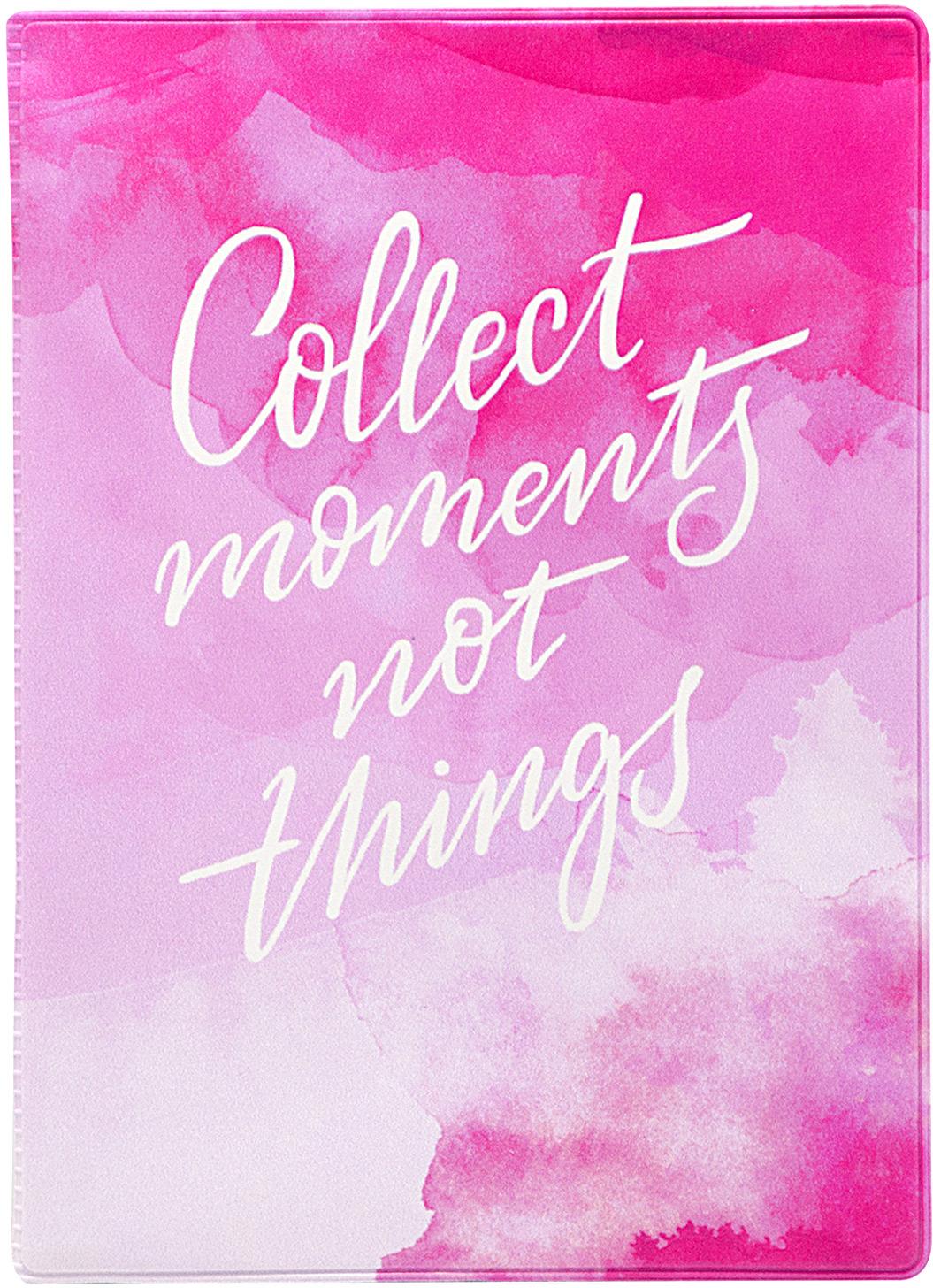 Обложка для паспорта Kawaii Factory Collect moments, цвет: розовый