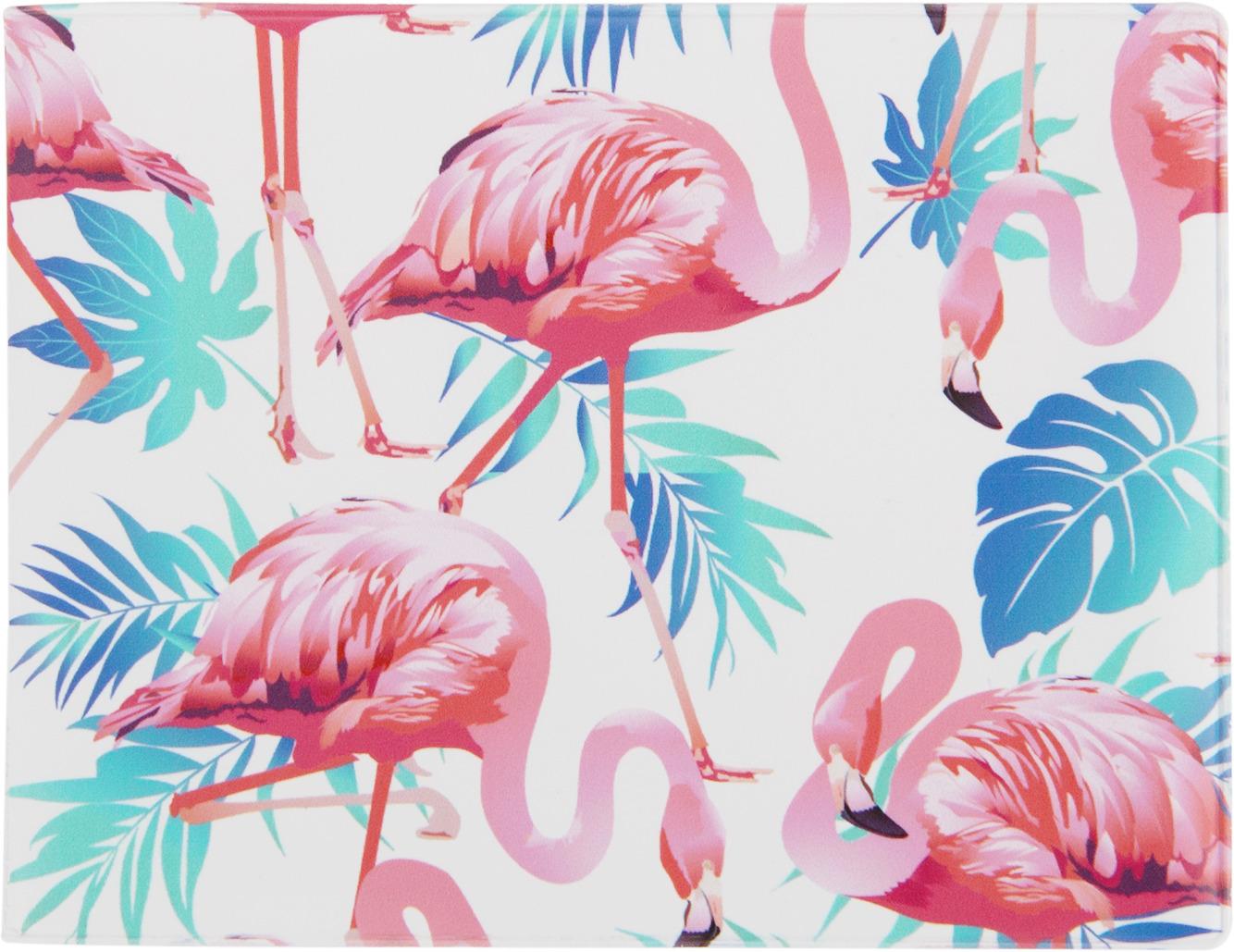 Обложка на студенческий Kawaii Factory Фламинго, цвет: белый, синий, розовый обложка на студенческий билет kawaii factory мастер спорта по неадекватности цвет белый оранжевый kw067 000133