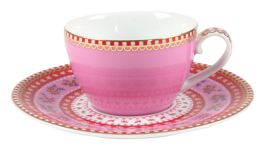 Набор чайный PiP Studio Floral, на 2 персоны, 4 предмета. 51.004.004 набор чайный на 2 персоны c622as622a l6 yg01 2 розовый 4 предмета