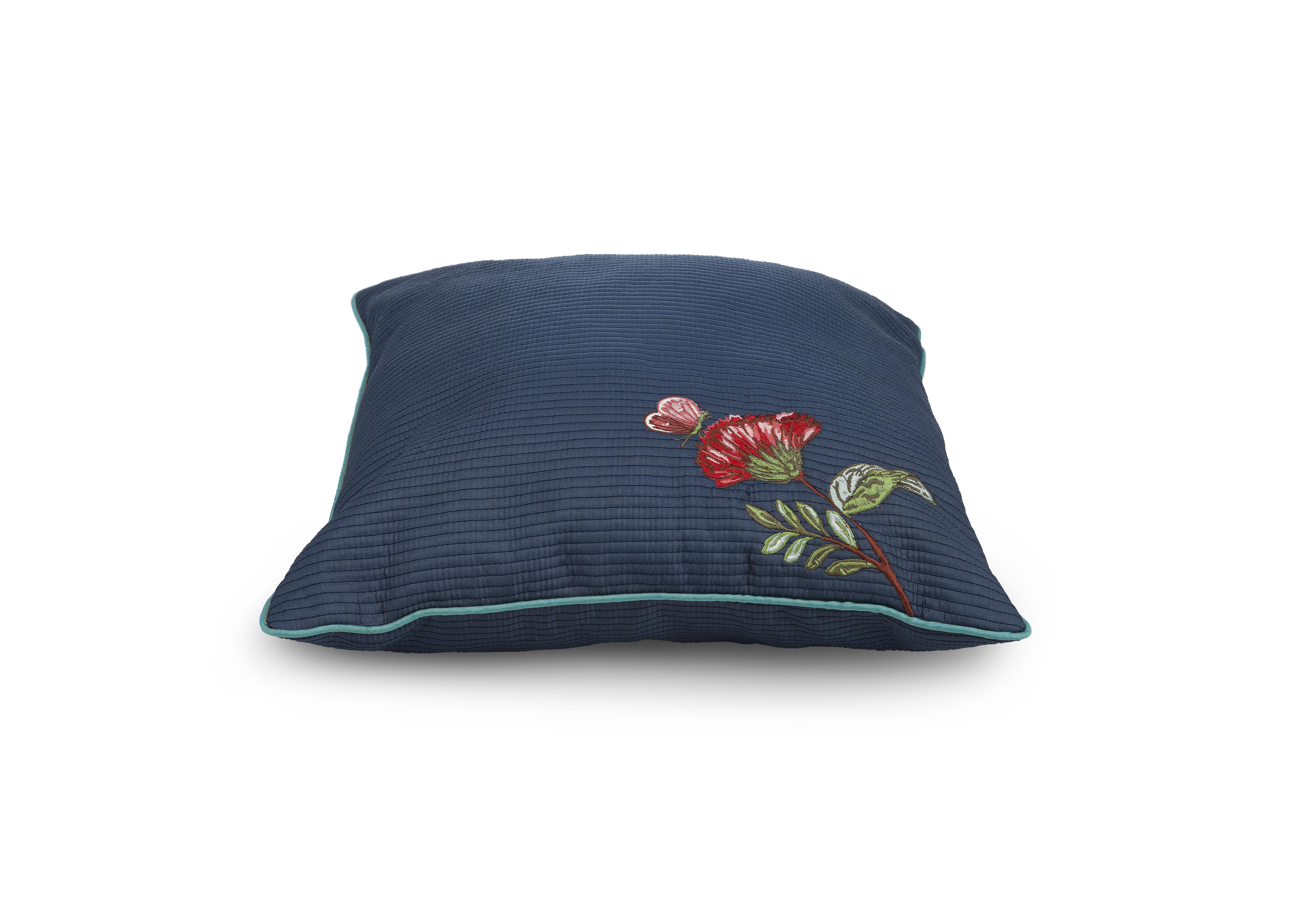 декоративные подушки asabella декоративная подушка caterpillar цвет чёрный с золотом 43х43 Подушка декоративная Pip studio Quilted, цвет: синий, 40 х 40 см