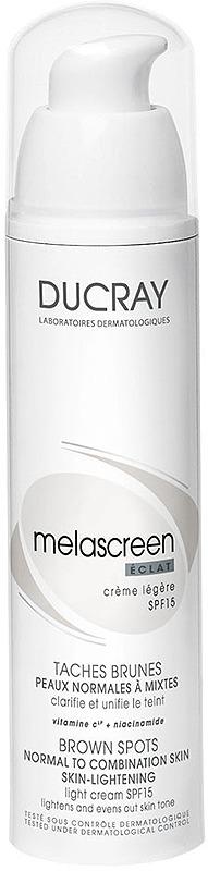 Крем отбеливающий Ducray Melascreen Eclat, легкий, SPF 15, 40 мл ducray легкий отбеливающий крем spf 15 меласкрин 40 мл