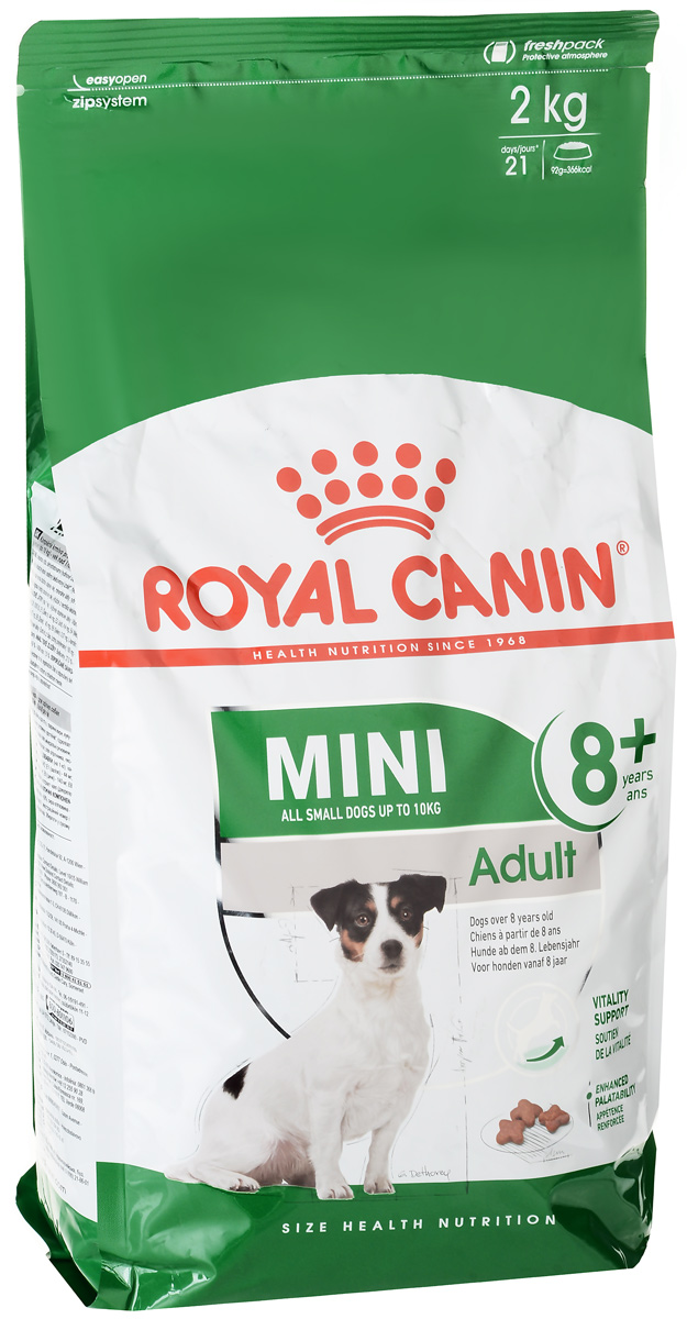"Корм сухой Royal Canin ""Mini Adult 8+"", для собак весом до 10 кг старше 8 лет, 2 кг"