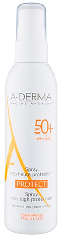 "A-Derma Cолнцезащитный спрей ""Protect"" SPF 50+"", 200 мл"