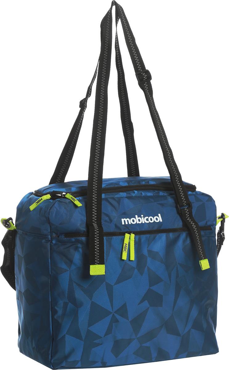 Термосумка MobiCool Sail 35 Геометрия, цвет: синий, 44 х 18 х 40 см термосумка mobicool sail 13 цвет синий 39 х 32 х 14 см
