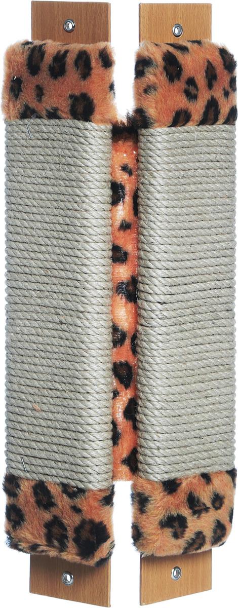 Когтеточка Неженка, угловая, джутовая, с кошачьей мятой, 51 х 20 см когтеточка угловая неженка с кошачьей мятой цвет темно серый коричневый 68 х 30 х 2 5 см