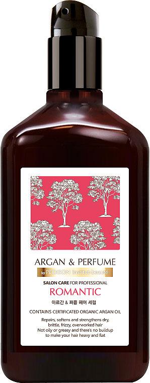 Сыворотка для волос Pedison Romantic, парфюмированная, с аргановым маслом, 130 млК144Парфюмированная сыворотка обладает приятным деликатным ароматом розовых цветочных лепестков. Верхние ноты: розовый пион, Фрезия Ноты сердца: магнолия, лилия Базовые ноты: амбра, мед В состав сыворотки входят 14 растительных масел и уникальное по своему составу масло арганы. Масло арганы – одно из самых ценных в природе. Практически полностью оно состоит из ненасыщенных жиров, витаминов и биологически активных веществ, которые с легкостью проникают в глубину волос, увлажняют и питают, дарят шелковистость и роскошный блеск. 14 растительных масел эффективно ухаживают за сухими и ломкими волосами, способствуют их укреплению. Сыворотка восстанавливает сухие и поврежденные волосы, устраняет и предотвращает появление секущихся кончиков и делает волосы послушными и блестящими. Средство обладает легкой консистенцией. Не содержит парабенов, сульфатов, фталатов, минерального масла и спирта