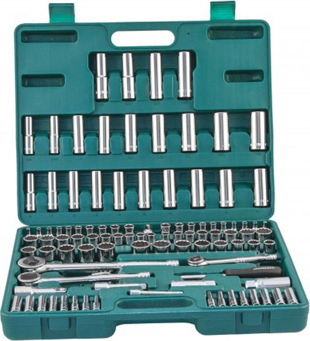 Набор инструмента Jonnesway, универсальный 1/4, 3/8 и 1/2DR, 107 предметов динамик широкополосный peerless 3 8 ohm 830987 1 шт