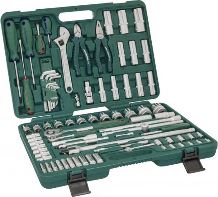 Набор инструмента Jonnesway, универсальный 1/4, 1/2DR, 83 предмета универсальный набор инструмента jonnesway 1 2 и 1 4 dr 127 предметов