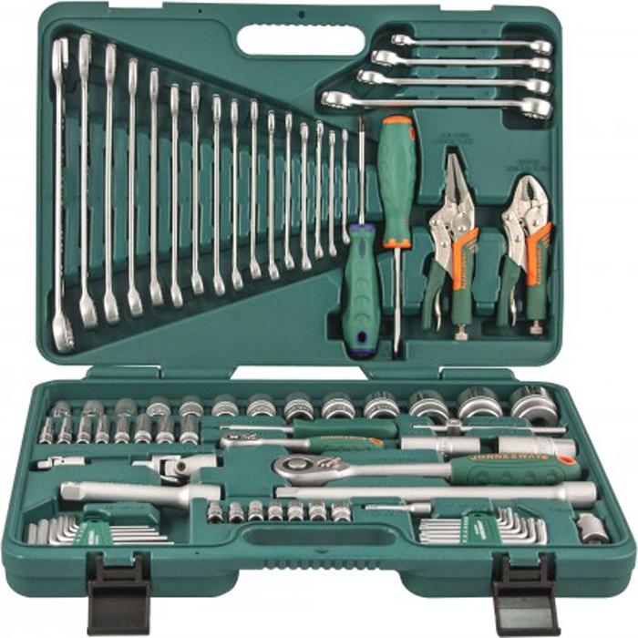 Набор инструмента Jonnesway, универсальный 1/4, 1/2DR, 78 предметов универсальный набор инструмента jonnesway 1 2 и 1 4 dr 127 предметов