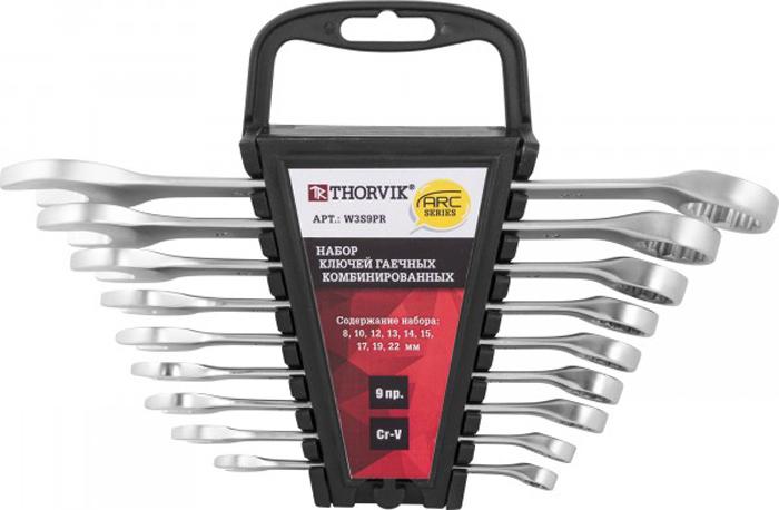 Набор ключей Thorvik, комбинированных на пластиковом держателе 8-22 мм, 9 предметов набор ключей комбинированных 9 предметов berger bg1144