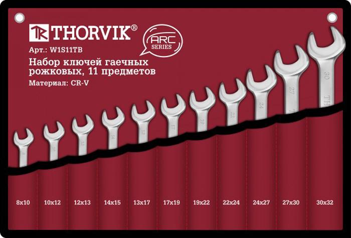 Набор ключей Thorvik, рожковых в сумке, 8-32 мм, 11 предметов цена в Москве и Питере