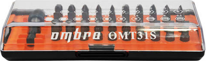 Фото - Набор вставок-бит Ombra, 31 предмет набор бит зубр эксперт 26052 h11 с маг адаптером cr mo ph1 ph2 ph3 pz1 pz2 pz3 hex 3 4 5 6 11шт