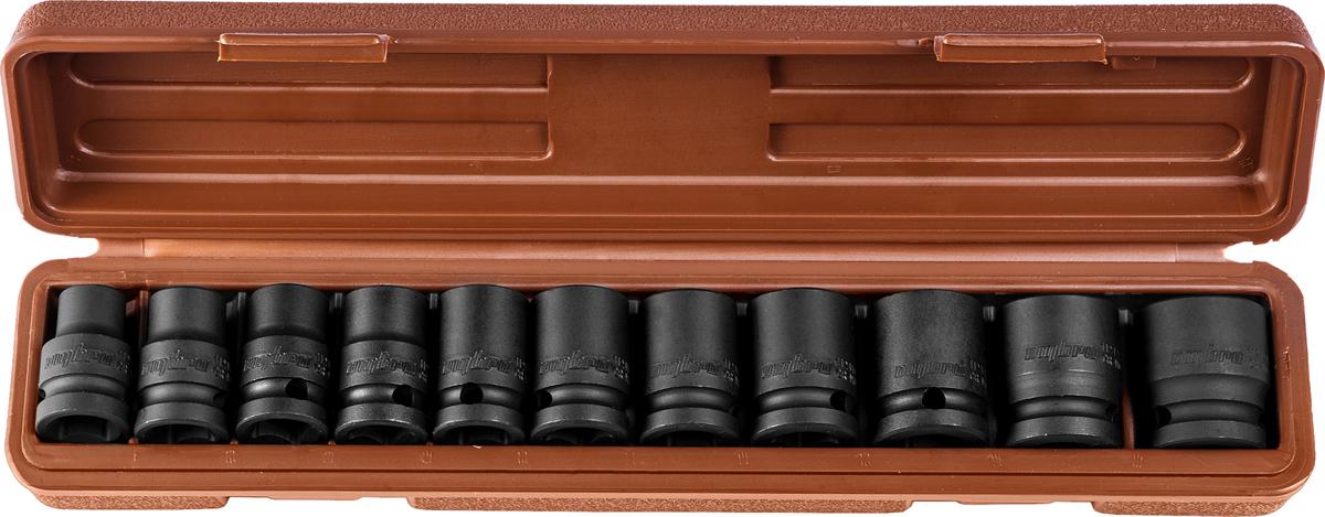 Набор головок торцевых Ombra, для ударного инструмента 1/2DR, 10-24 мм, 11 предметов торцевая головка bosch 10 мм 1 2 1 шт 1 608 552 012