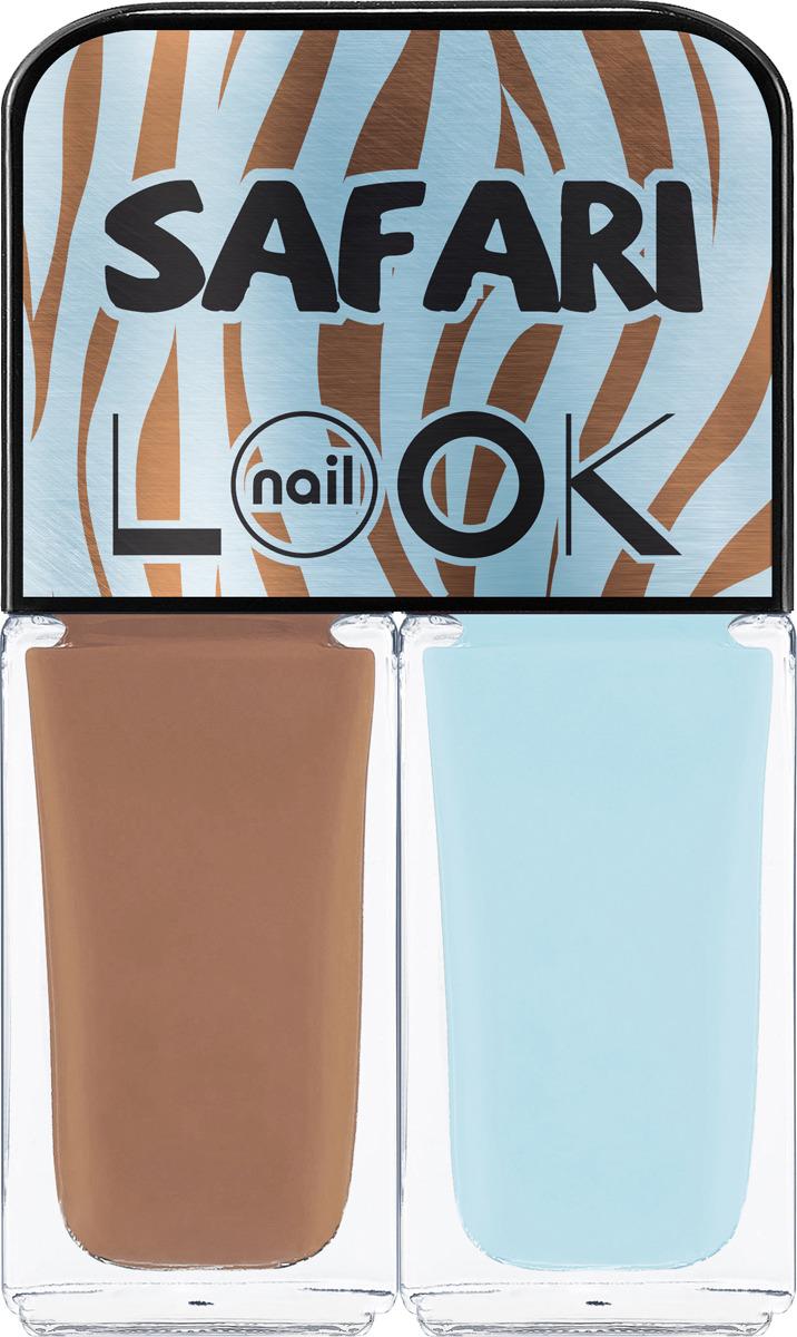 Лак для ногтей Nail LOOK Trends Safari Blue Zebra, 2 шт по 3 мл