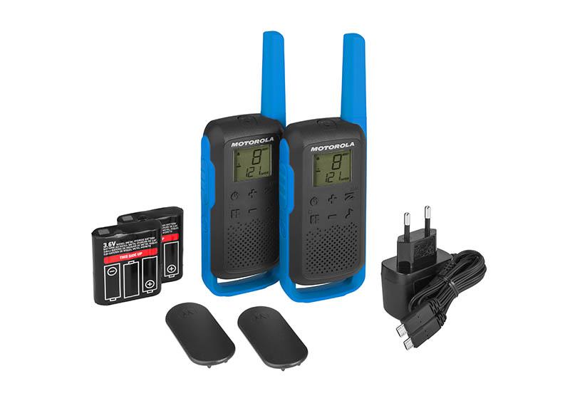 Комплект из двух радиостанций Motorola T62 BLUE (TALKABOUT) радиостанция motorola talkabout t62 blue