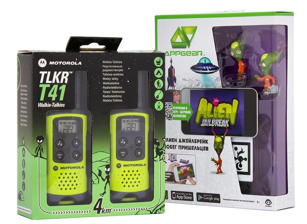 Радиостанция Motorola TLKR-T41, 2 шт, Green + Подарок радиостанция motorola tlkr t80ext комплект из двух радиостанций mt125