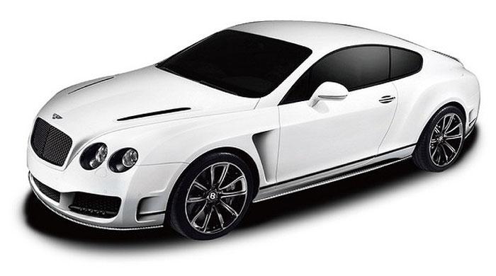 Радиоуправляемая модель Rastar Bentley Continental GT Speed, масштаб 1:24, белый rastar радиоуправляемая модель bentley continental gt3