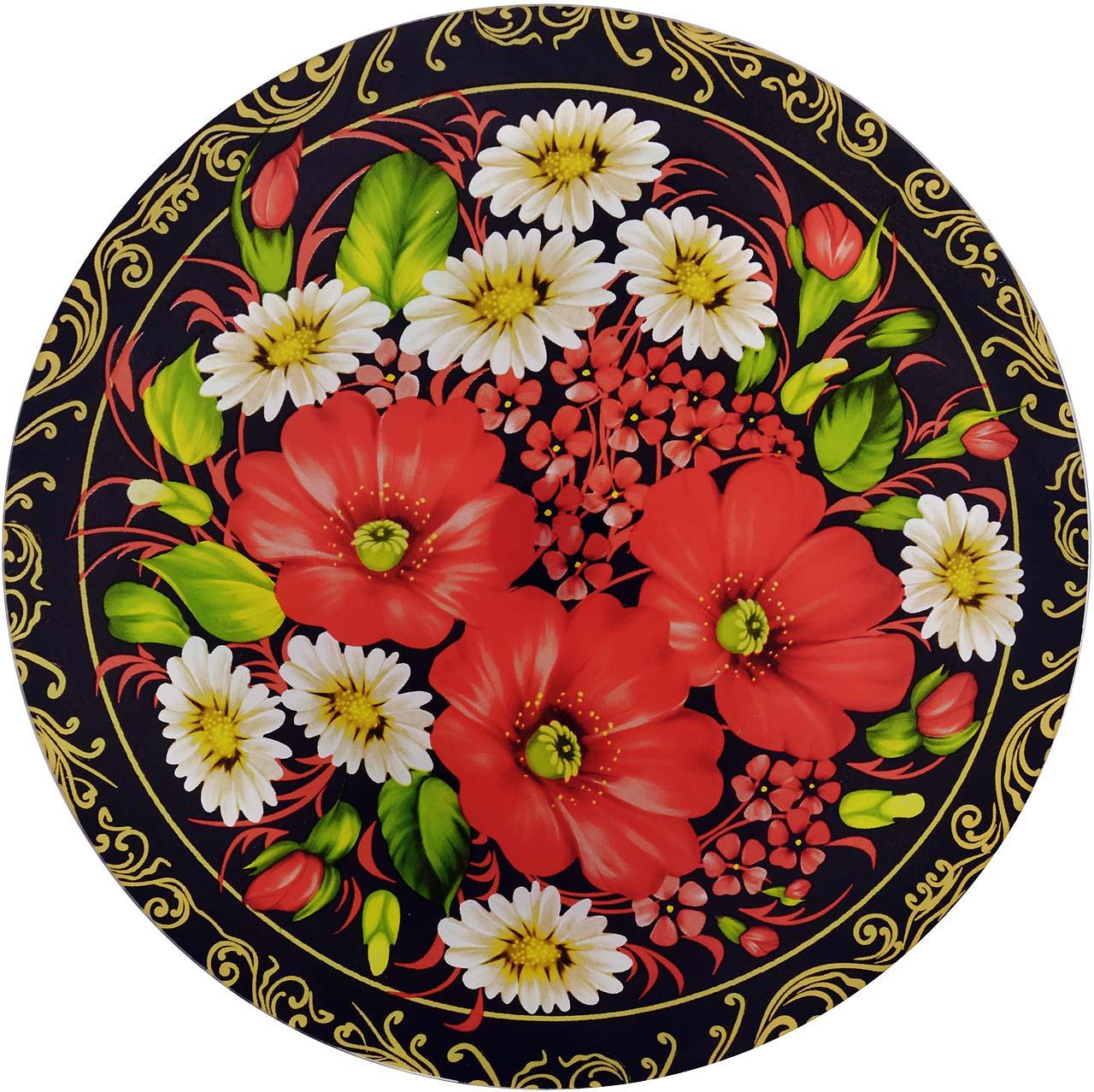 Тортовница Loraine, вращающаяся, цвет: черный, красный, зеленый, диаметр 30,5 см. э2364