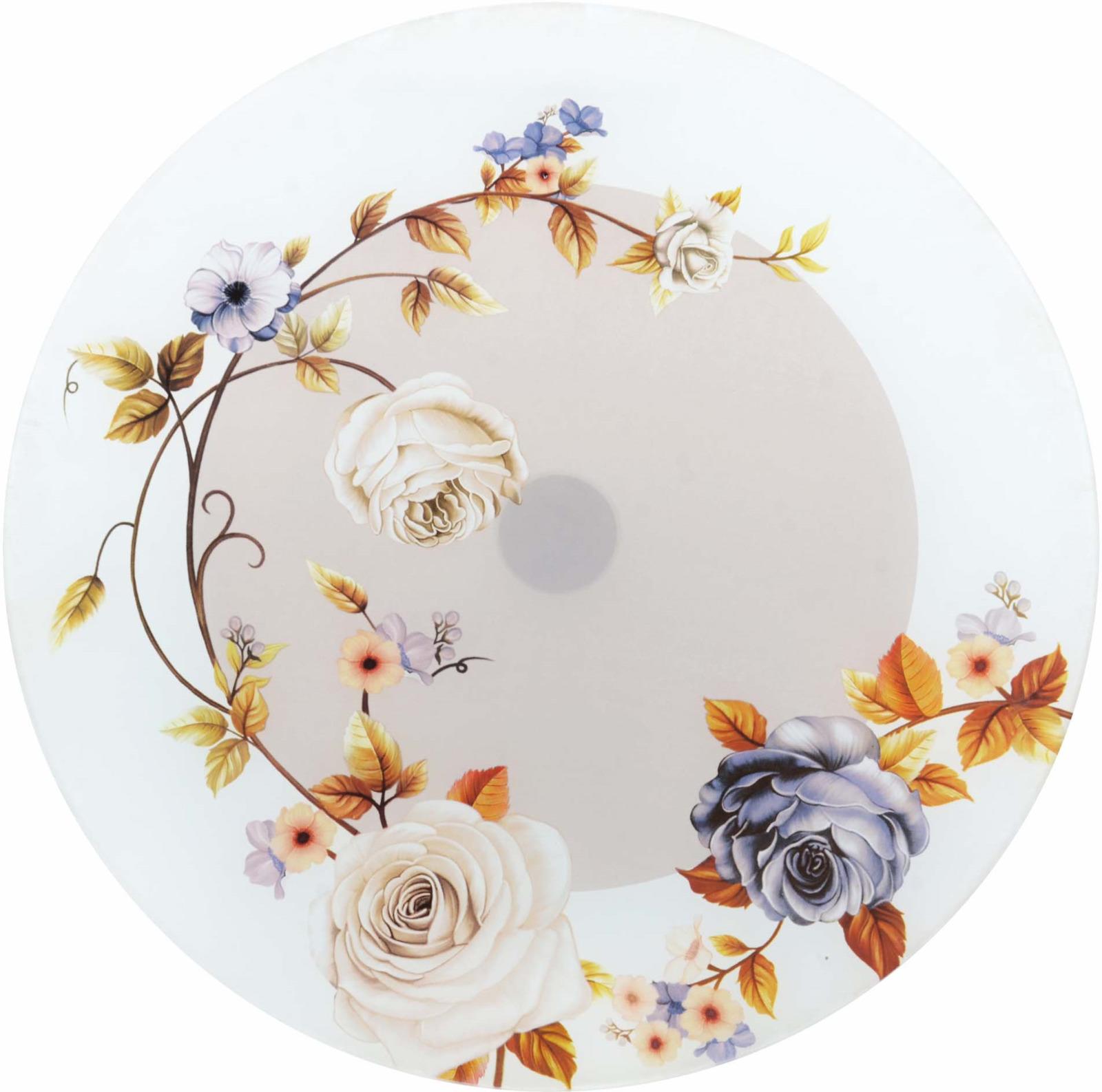 Тортовница Loraine, вращающаяся, цвет: белый, бежевый, коричневый, диаметр 30,5 см. э2368