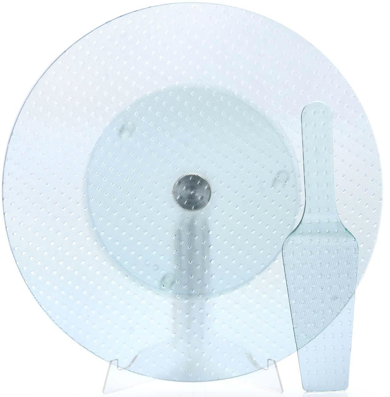 Тортовница Loraine, вращающаяся, цвет: прозрачный, диаметр 35,5 см, 2 предмета