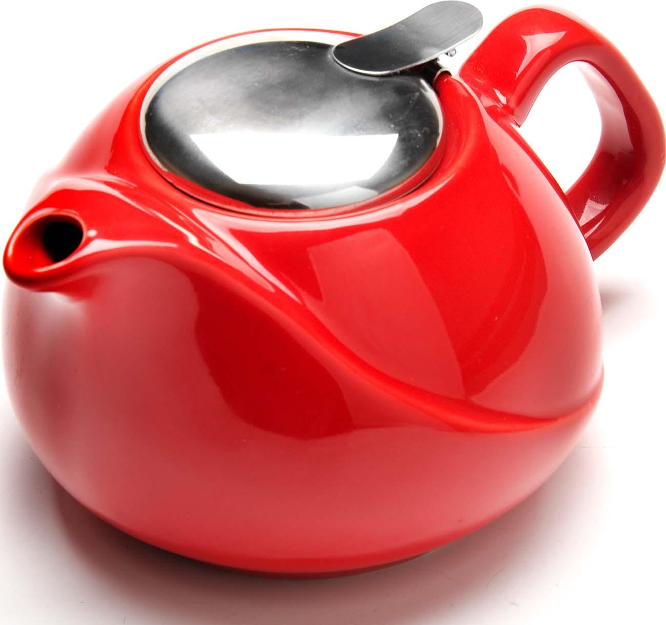купить Чайник заварочный Loraine, цвет: красный, 750 мл по цене 559 рублей