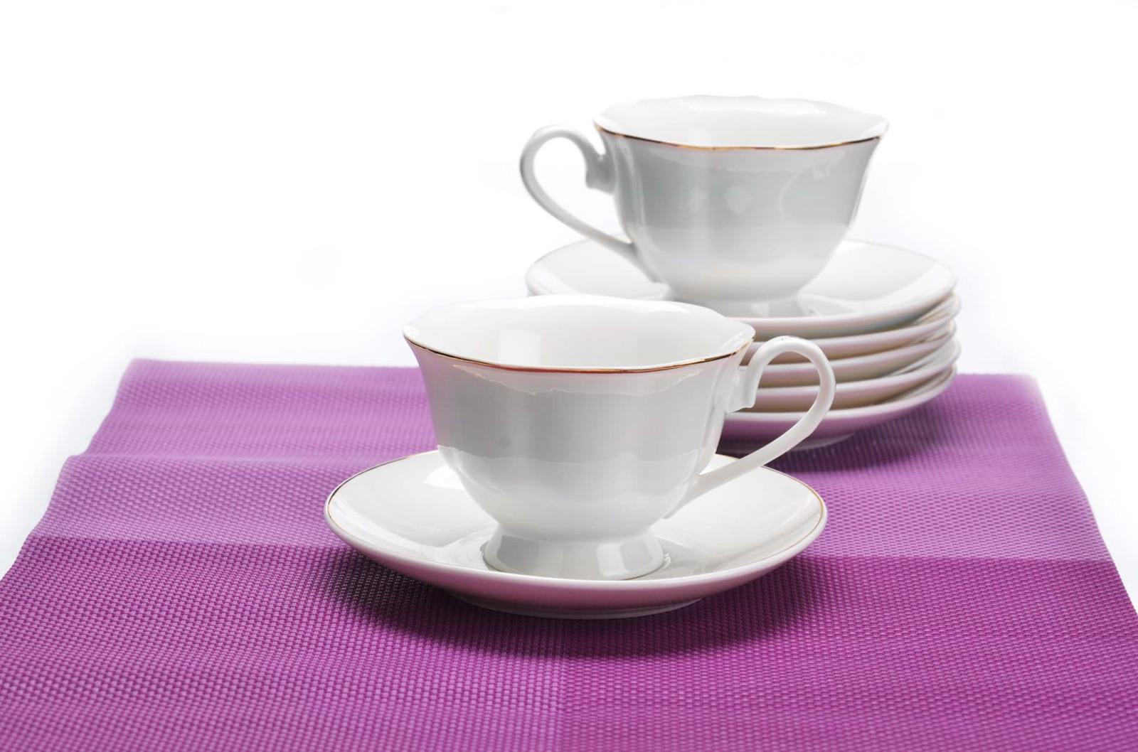 Сервиз чайный Loraine, цвет: белый, 12 предметов