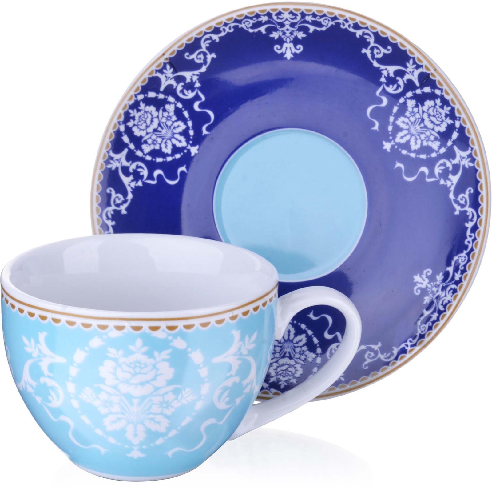 Чайная пара Loraine, цвет: голубой, красный, белый, 220 мл, 2 предмета. у4022у4022Чайная пара Loraine на 1 персону, изготовлена из высококачественного костяного фарфора изысканного белого цвета, состоит из чашечки и блюдца. Изделия набора украшены тонкой каймой и имеют красивый и нежный дизайн. Набор придется по вкусу и ценителям классики, и тем, кто предпочитает утонченность и изысканность. Он настроит на позитивный лад и подарит хорошее настроение с самого утра. Набор упакован в подарочную упаковку. Такой чайный набор станет прекрасным украшением стола, а процесс чаепития превратится в одно удовольствие! Это замечательный выбор для подарка родным и друзьям!