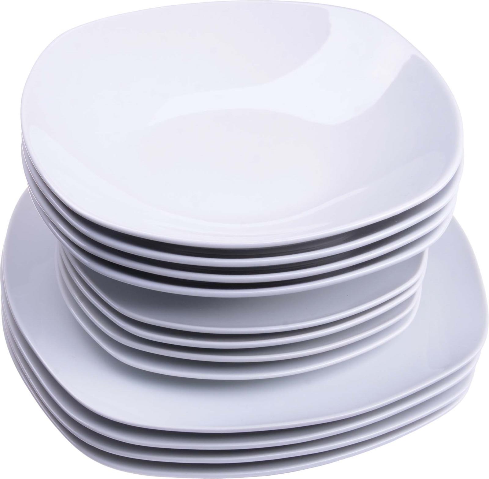 Сервиз обеденный Loraine, цвет: белый, 12 предметов