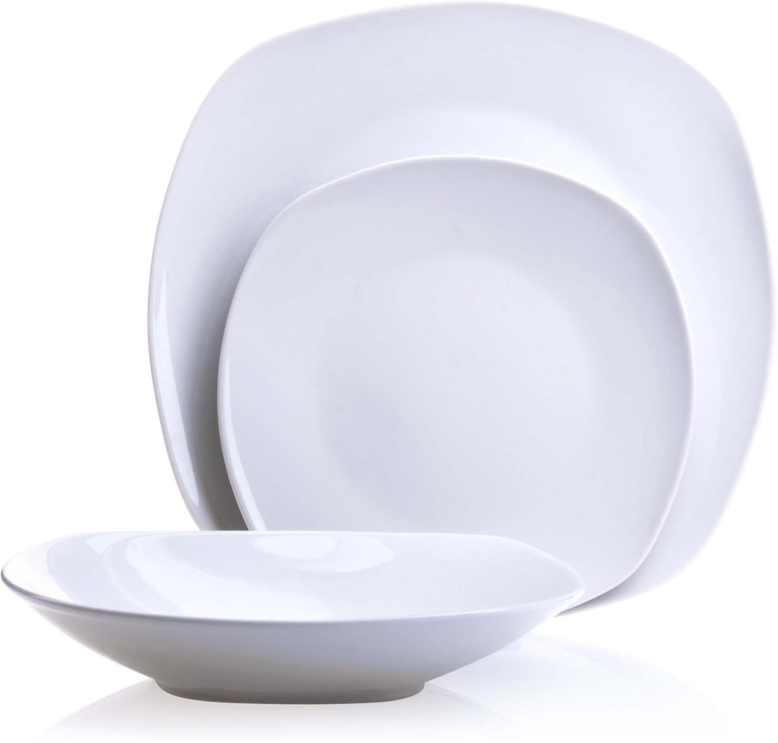 Сервиз обеденный Loraine, цвет: белый, 18 предметов. у4110