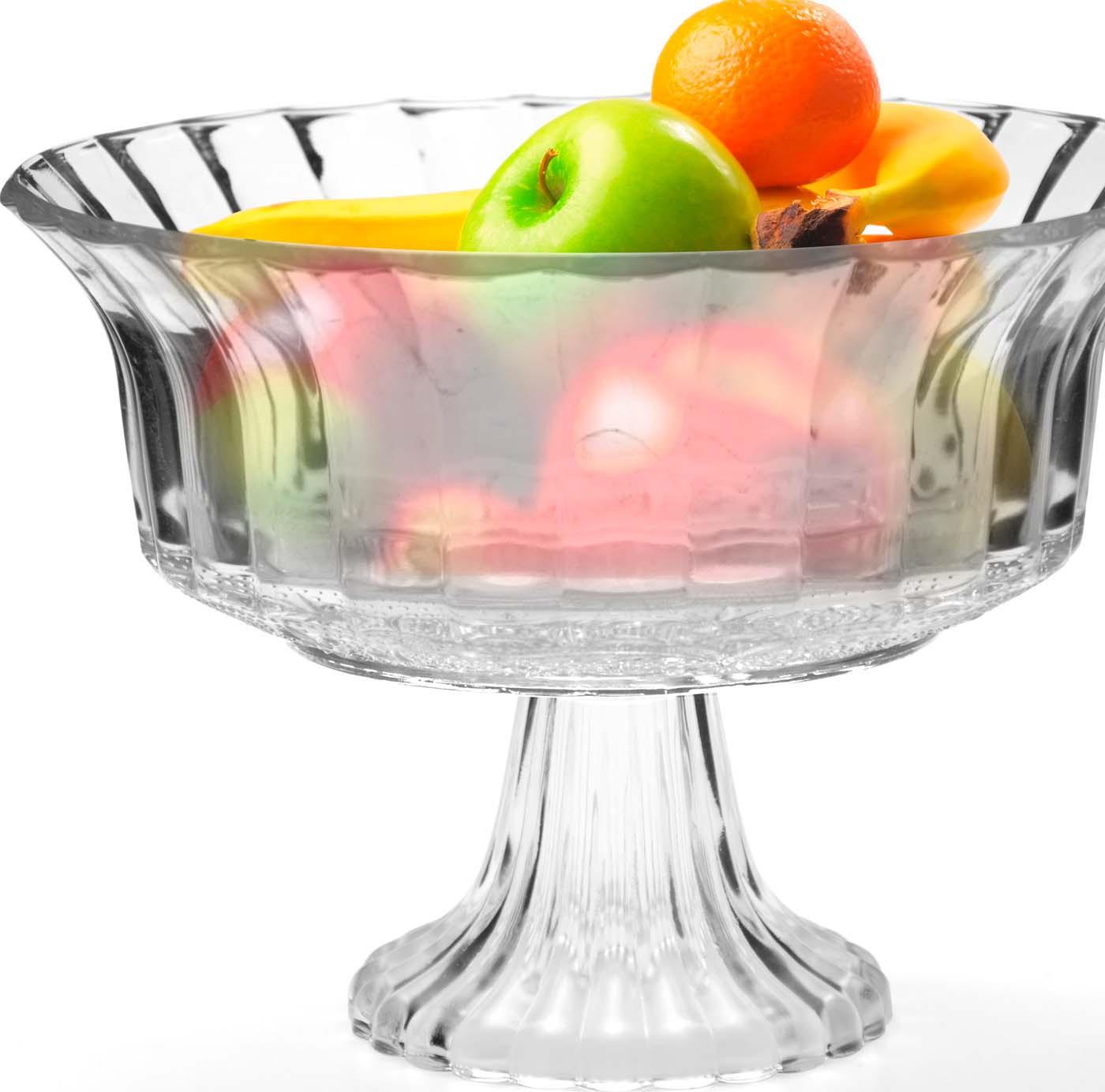 Ваза для фруктов Mayer & Boch, цвет: прозрачный, 22,5 х 16,5 см