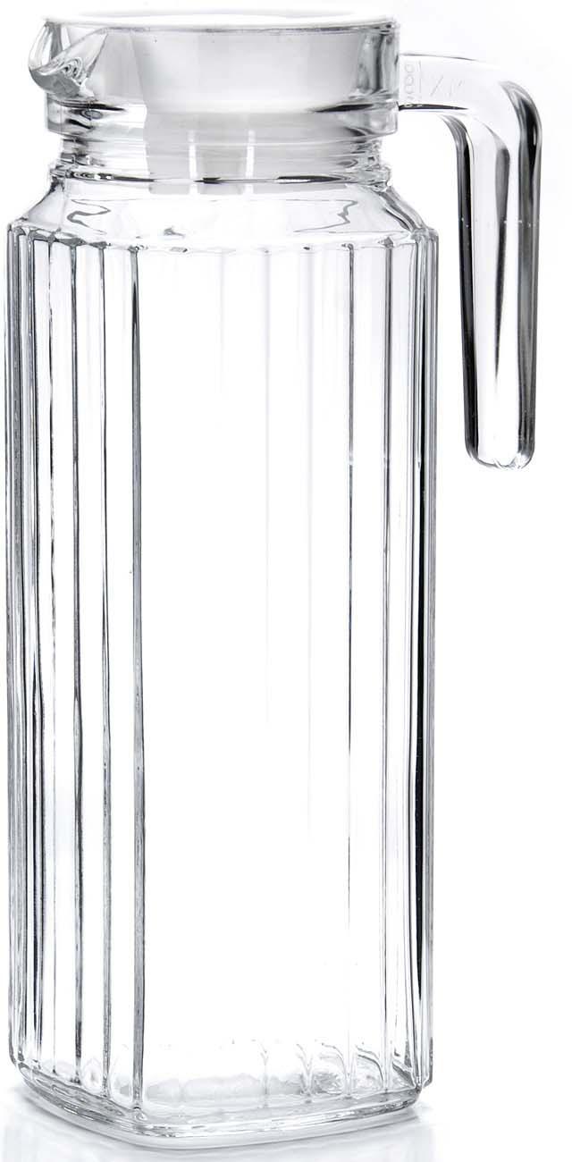 Кувшин Loraine, цвет: прозрачный, белый, 1,15 л