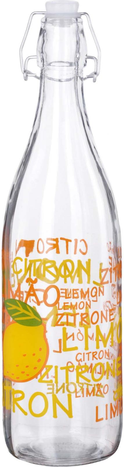 Бутылка Mayer & Boch Лимон, цвет: желтый, оранжевый, зеленый, 1 л