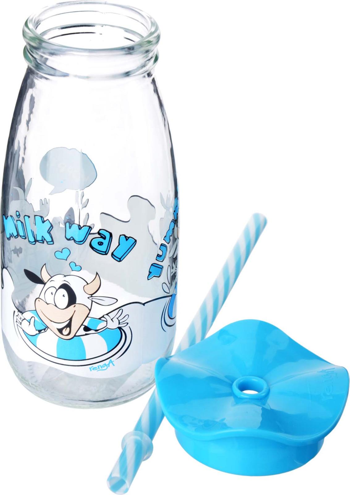 Бутылка для смузи Mayer & Boch, цвет: голубой, 500 мл