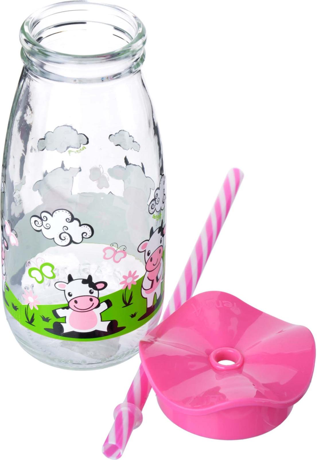 Бутылка для смузи Mayer & Boch, цвет: розовый, 500 мл