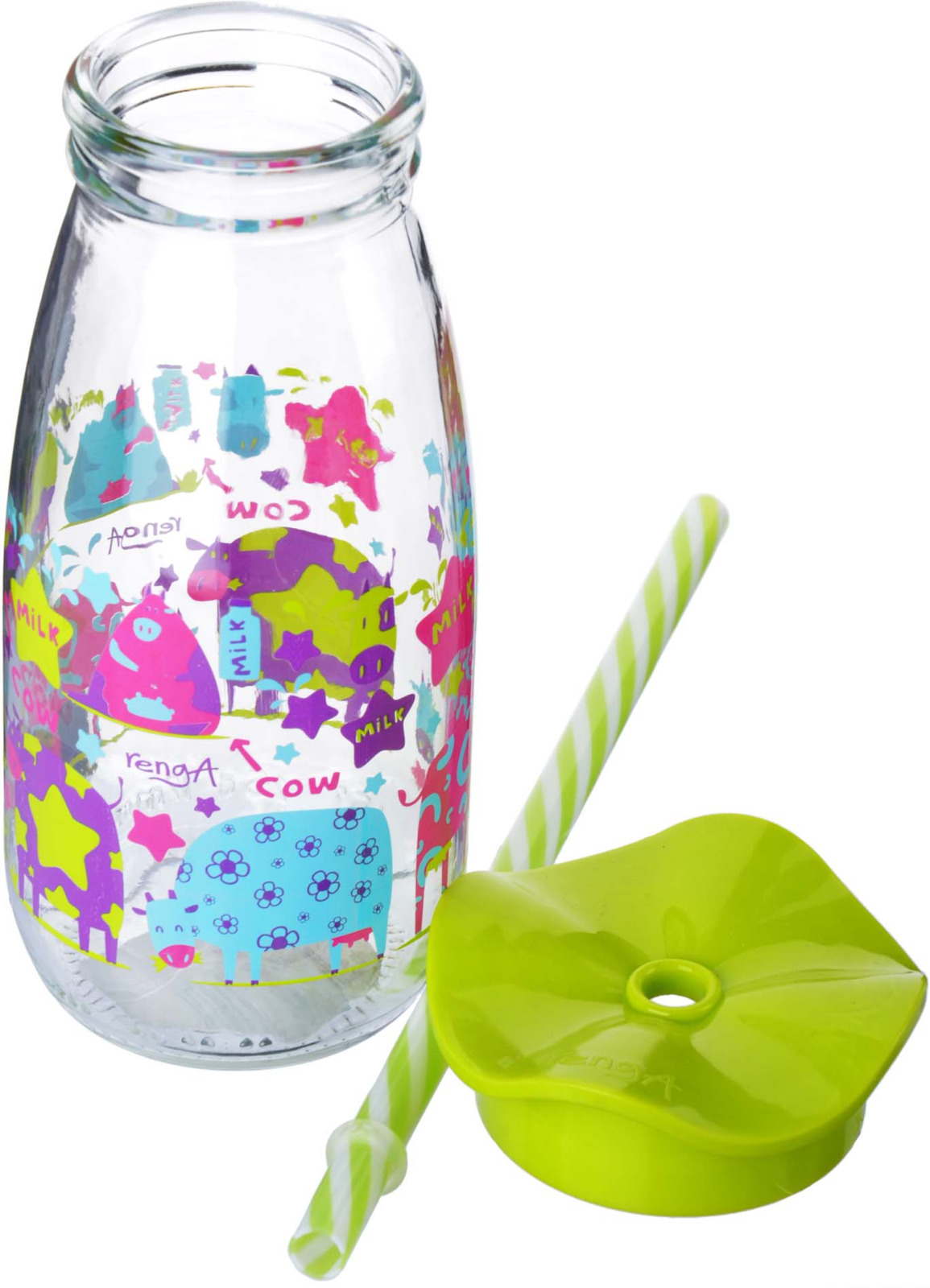 Бутылка для смузи Mayer & Boch, цвет: салатовый, 500 мл