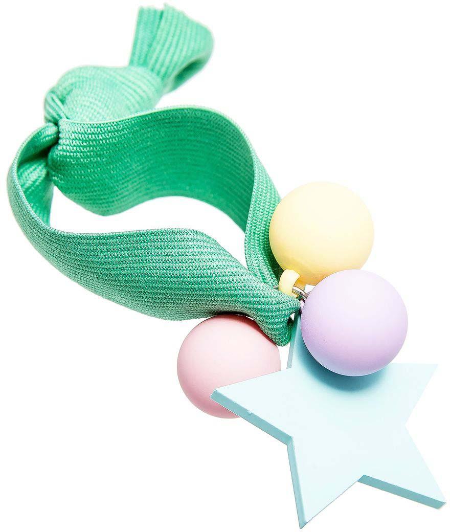 Резинка для волос Aiyony Macie, цвет: зеленый, розовый, желтый. H808137 резинка для волос aiyony macie цвет зеленый черный h802288