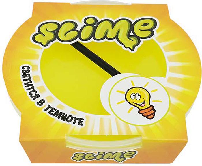 Жвачка для рук Slime Mega, цвет: желтый, светится в темноте, 300 г