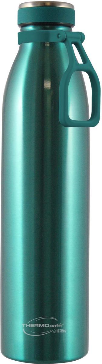 Термос Thermocafe By Thermos BOLINO2-750, цвет: зеленый, 750 мл158529Термос-бутылка подходит тем, кто предпочитает активный образ жизни и занятия спортом на свежем воздухе. Термос-бутылка идеально подходит для хранения холодных напитков. Специальная ручка, расположенная у крышки, позволяет подвешивать термобутылку на пояс, сумку или крепить к велосипедам.