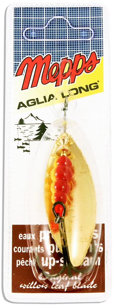 Блесна MEPPS Aglia Longue OR, вращающаяся, №4, цвет: золотой, 17 г цены