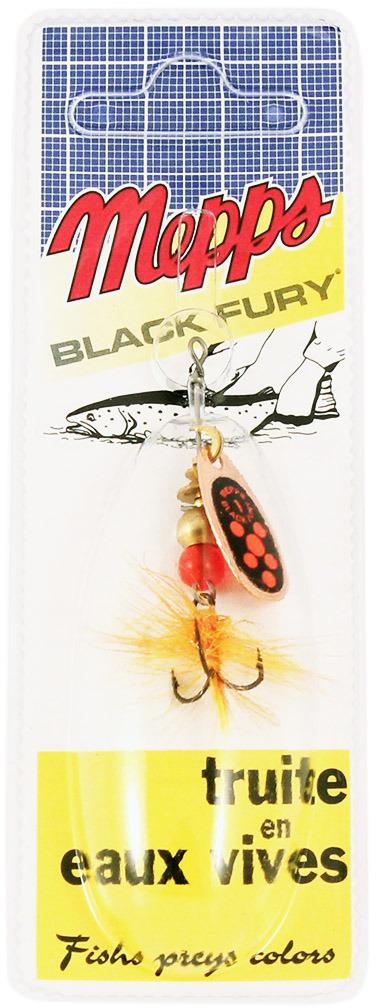 Блесна MEPPS Black Fury ORANGE MCH CU, вращающаяся, №1, цвет: медь, оранжевый, черный, 3,5 г