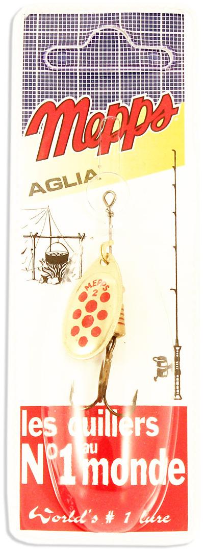 Блесна MEPPS Aglia PTS Rouges OR, вращающаяся, №2, цвет: золотой, красный, 4,5 г