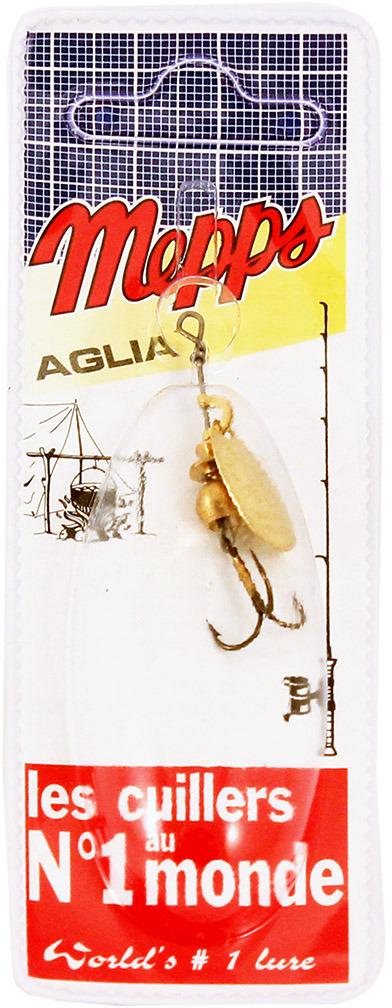 Блесна MEPPS Aglia OR, вращающаяся, №0, цвет: золотой, 2,5 г